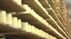 SWITZERLAND swiss cheese storage 6 Stock Footage