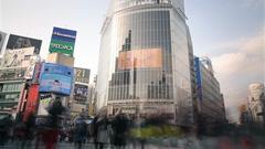 Stock Video Footage of Motion Control Pan/Tilt Time Lapse of Shibuya Crosswalk in Tokyo