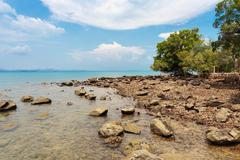 Tropical beach on the island of Koh Mak in Thailand - stock photo
