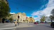 Stock Video Footage of Sweden Stockholm city traffic time lapse
