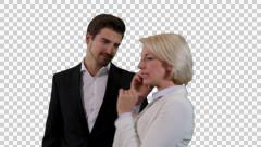 K14A8853 - Couple, she phones, he has to wait Stock Footage