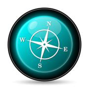 Compass icon. Internet button on white background.. Stock Illustration