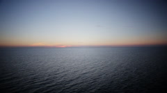 Stock Video Footage of Ocean Dusk Horizon Line