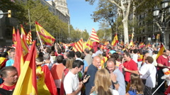 March in Spain 4 Stock Footage