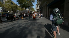 Barcelona independence protest Stock Footage