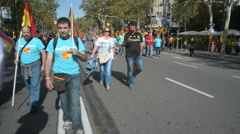 Barcelona indpendence protest Stock Footage