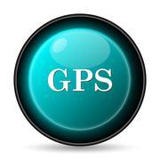 Stock Illustration of GPS icon. Internet button on white background..