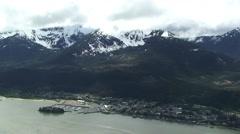 Alaska Valley Junaeu Mt Roberts Stock Footage