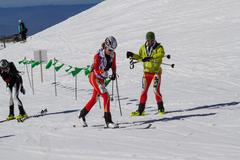 Etna Ski Alp - World Championship 2012 International Trophy Etna - 24/25 Febr - stock photo