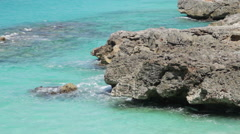 Scenic View of Anguilla Island Paradise - Beach and Turquoise Ocean Water Stock Footage