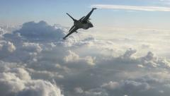 F-16 Fighter Extreme Close Pass Stock Footage