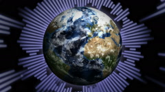 Earth and Music Lines, Loop Stock Footage