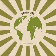 Vector modern april 22 earth day background. Stock Illustration
