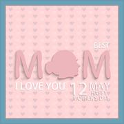 Vector modern 12 may mothers day background. Stock Illustration