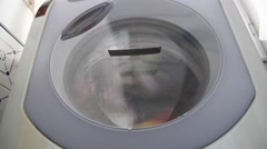 Washer during washing cycle Stock Footage