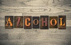 Alcohol Wooden Letterpress Theme - stock photo
