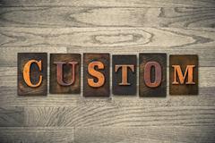 Custom Wooden Letterpress Theme - stock photo