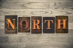 North Wooden Letterpress Theme - stock photo