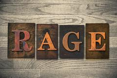Rage Wooden Letterpress Theme - stock photo