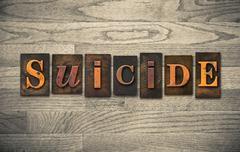 Suicide Wooden Letterpress Theme Kuvituskuvat