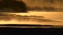 Morning fog, Hokkaido, Japan Stock Footage