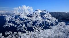 Stock Video Footage of Rime at Mount Kamui, Hokkaido, Japan