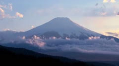 View of Mount Fuji, Japan Stock Footage