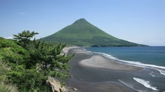 Mount Kaimondake, Kagoshima Prefecture, Japan Stock Footage