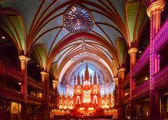 Notre Dame Basilica - Montreal, Canada - stock photo