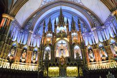 Stock Photo of Notre Dame Basilica - Montreal, Canada
