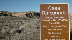 Casa Rinconada, Chaco Canyon New Mexico ancient Native American - stock footage