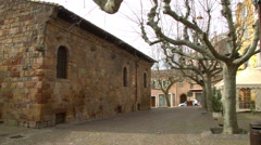 Grounds of Cathedral Saint Leonce in FREJUS, FRANCE Stock Footage