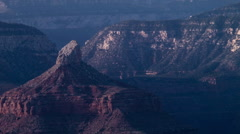 Grand Canyon National Park, mesas and formations at sunset Stock Footage