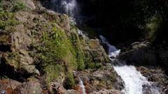 Beautiful Waterfall in Thailand. Koh Samui. Slow Motion Stock Footage