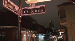Bourbon Street & Orleans St French Quarter New Orleans Stock Footage