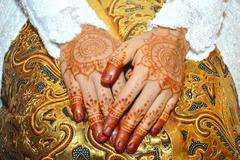Henna On Hands Stock Photos