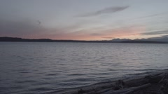 Sunset from lincoln park Stock Footage