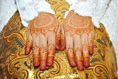 Henna On Hands Stock Photos