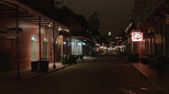 Early Morning in  French Quarter, New Orleans empty street Stock Footage