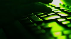 Typing on the keyboard - stock footage