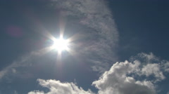 Vast Sky Sun and Clouds Time Lapse Stock Footage