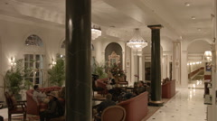 New Orleans hotel lobby interior Stock Footage