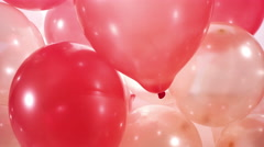 4k beautiful red gold balloons background - stock footage