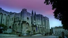Avignone, France, July 2014 - Le palais des Papes, Avignon, France. Stock Footage