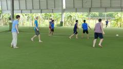 Youth Missions Team Playing Soccer Game In Thailand Stock Footage