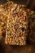Raw Organic Granola Bars - stock photo