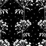 Tansy flowers pattern - stock illustration