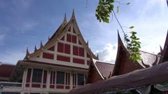 Thai Temple Buildings Stock Footage