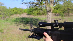 AR 15 Firing Stock Footage