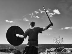 Viking warrior - stock photo